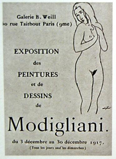 Amedeo-Modigliani-berthe-weill-first-oneman-exhibition-nudes-1917-paris