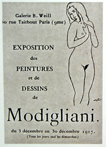 Amedeo-Modigliani-berthe-weill-first-oneman-exhibition-nudes-1917-paris