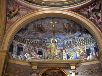 Christ as pantocrator - Santa pudenzia Rome 410 AD