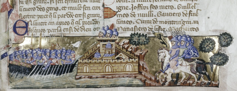 Seige of Constantinople from a ms of 1330