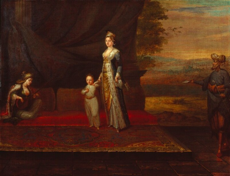 Lady-Mary-Wortley-Montagu-with-her-son-Edward-Wortley-Montagu-and-attendants