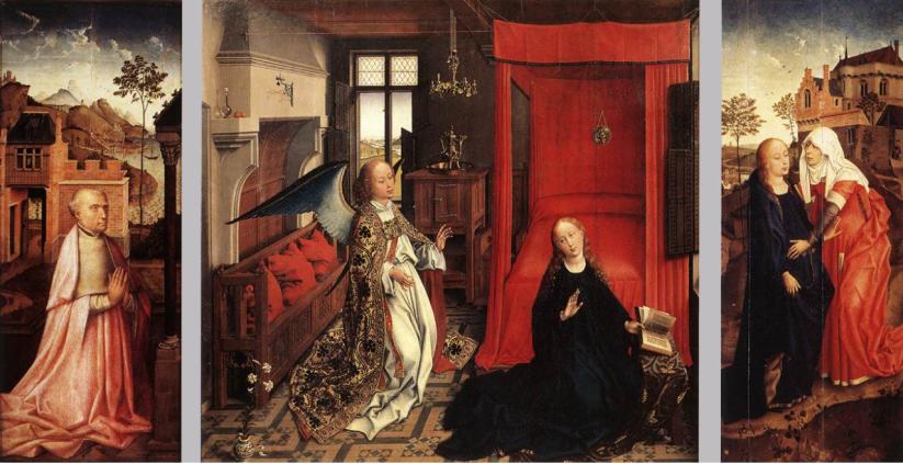 Rogier van der Weyden - annunciation - Louvre