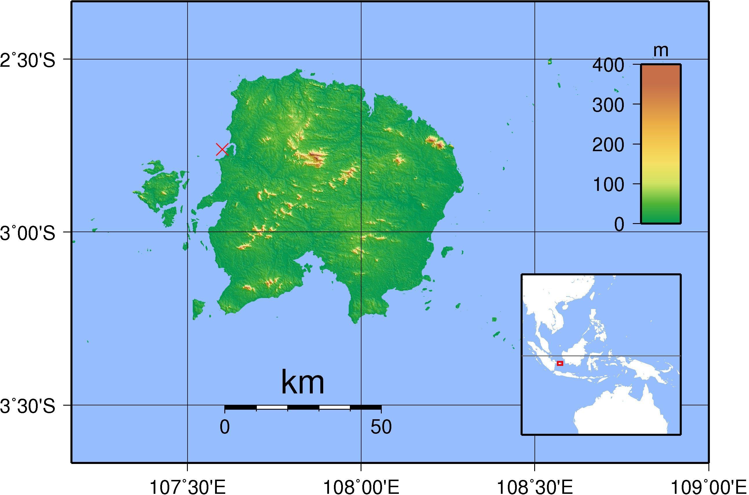 Belitung_shipwreck_location